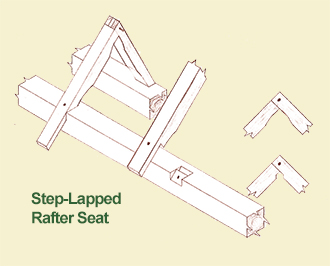 Step Lapped Rafter Seat